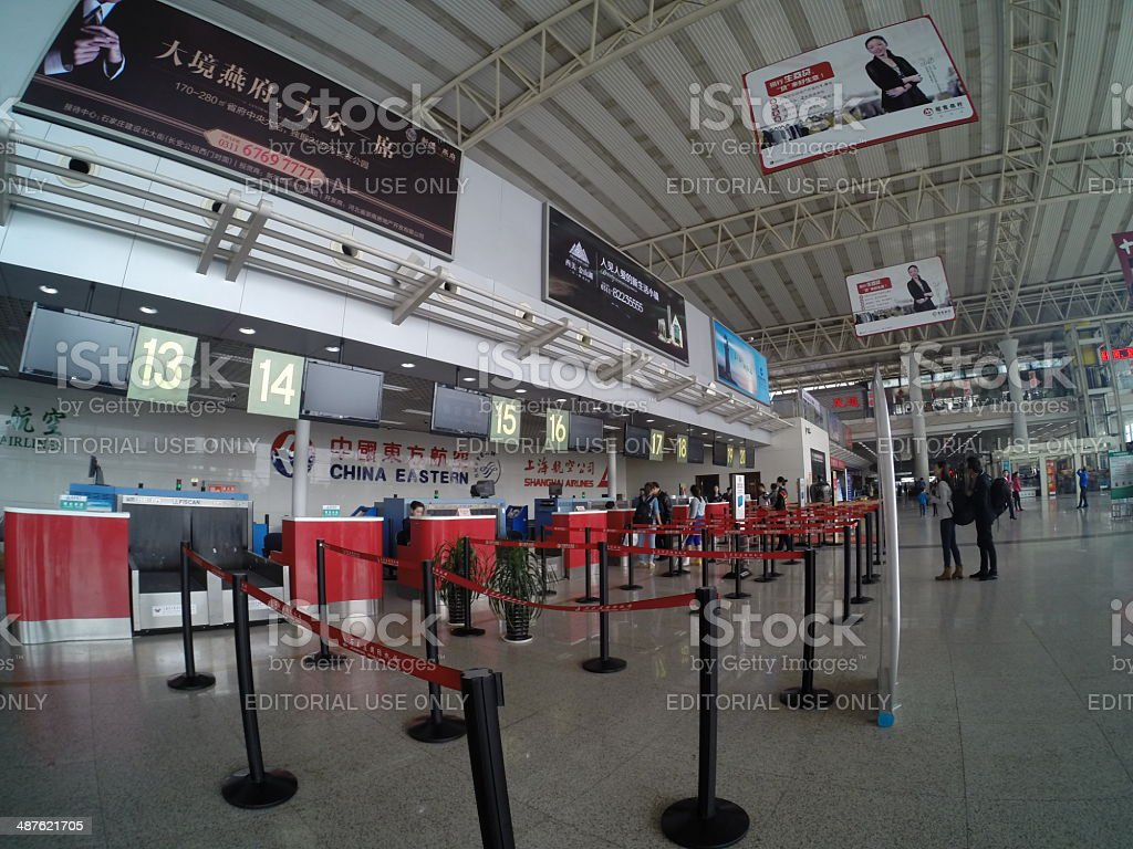 Check-in Counters stock photo