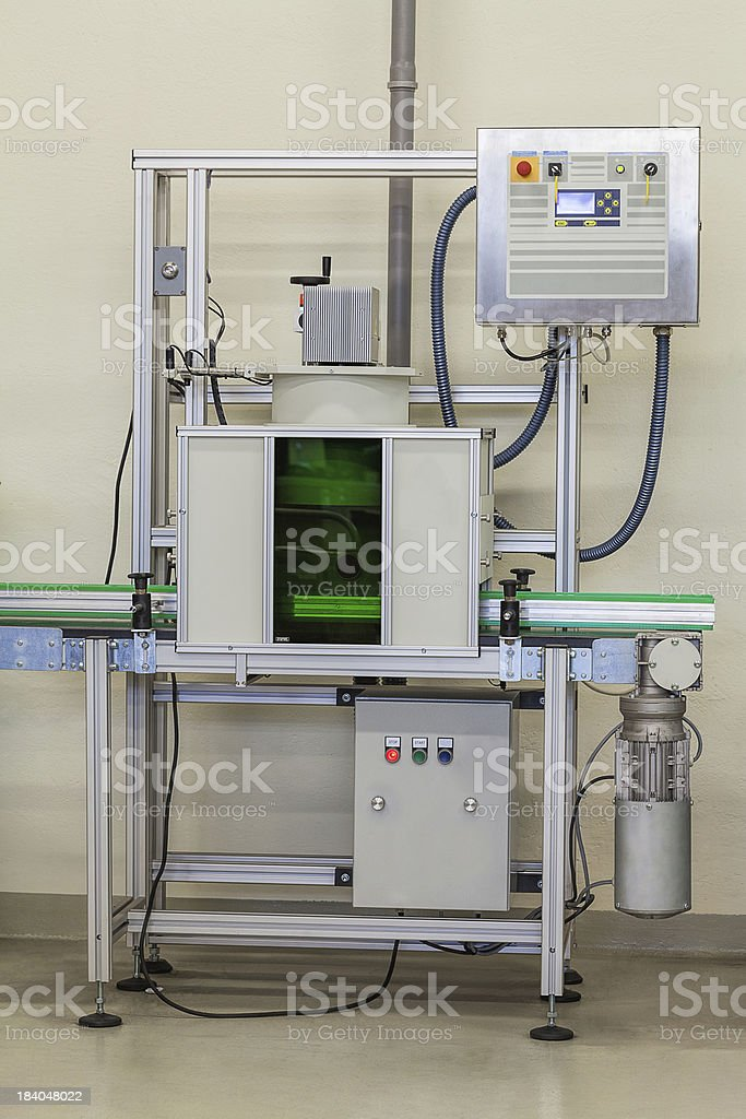 Checking a pressure in water filter royalty-free stock photo
