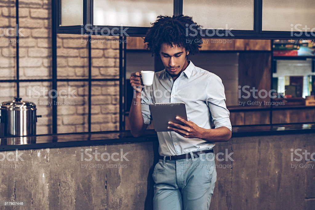 Checking all updates. stock photo