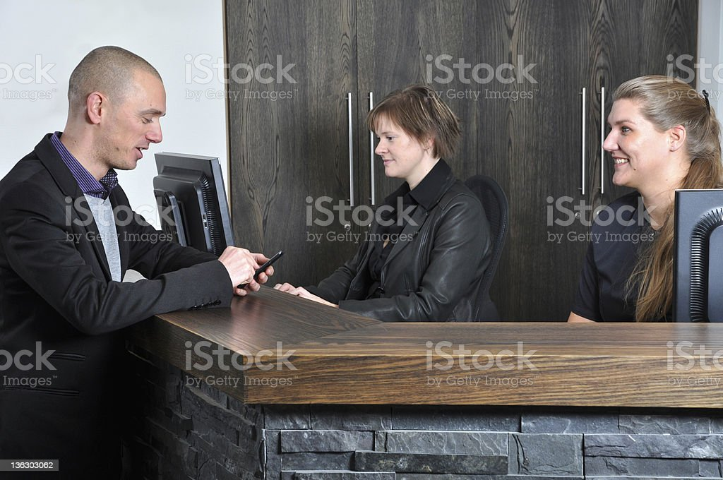 Checking an appointment royalty-free stock photo