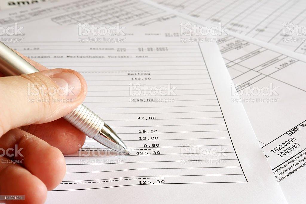 checking balance royalty-free stock photo
