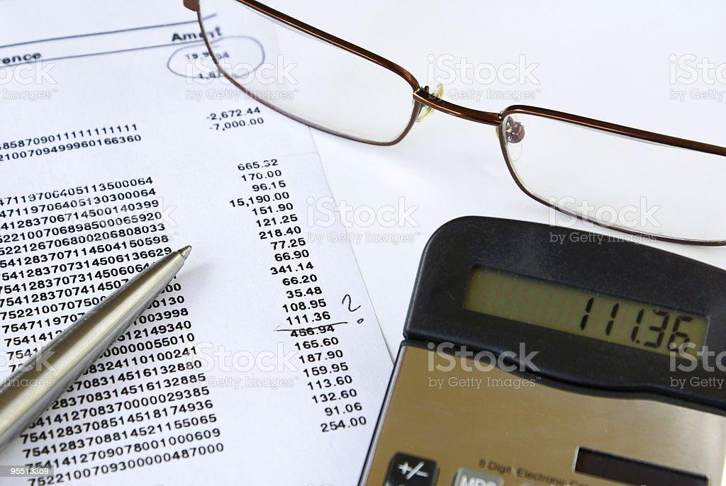 Checking bank statement royalty-free stock photo