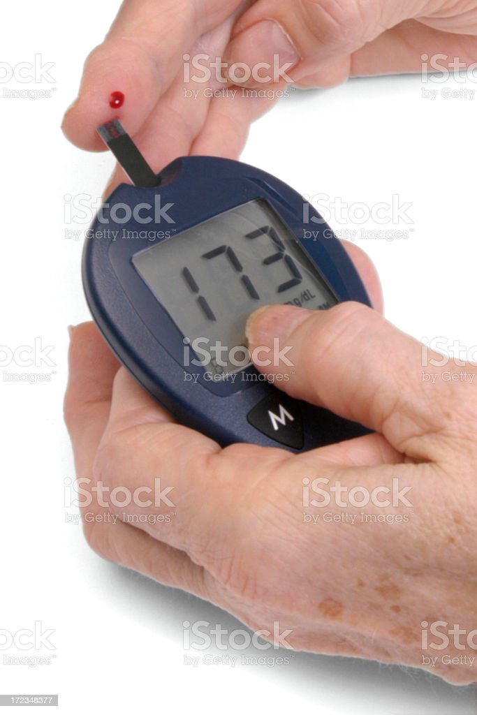 Checking Blood Sugar level royalty-free stock photo