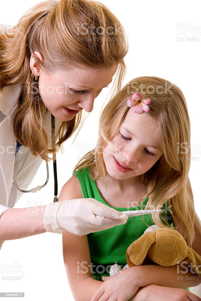 checking body temperature royalty-free stock photo