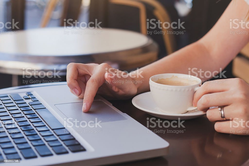 checking email stock photo