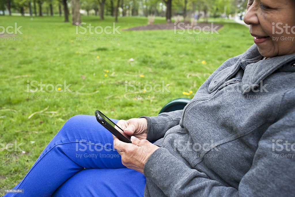 Checking emails royalty-free stock photo