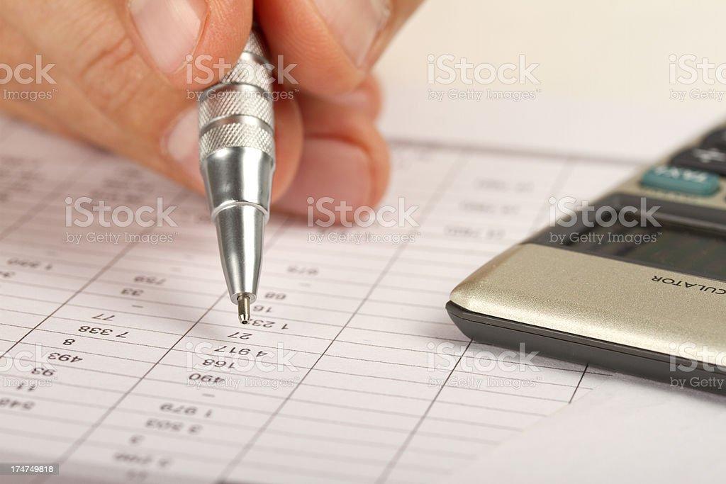 Checking finance analysis stock photo