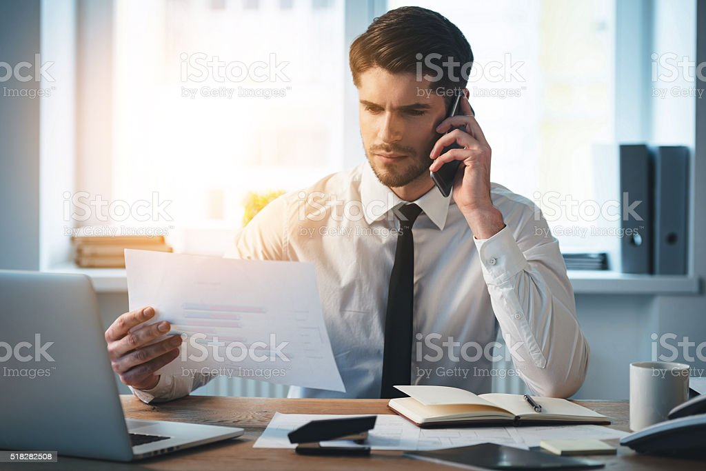 Checking for  dynamic. stock photo