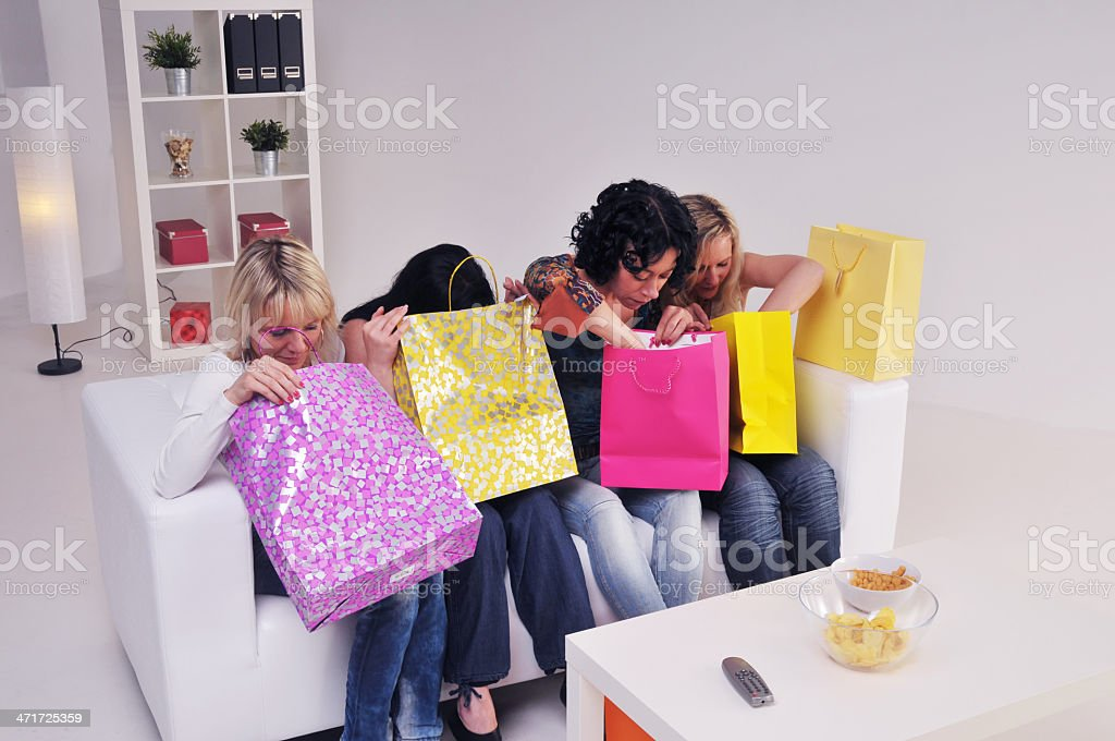 Checking gifts royalty-free stock photo