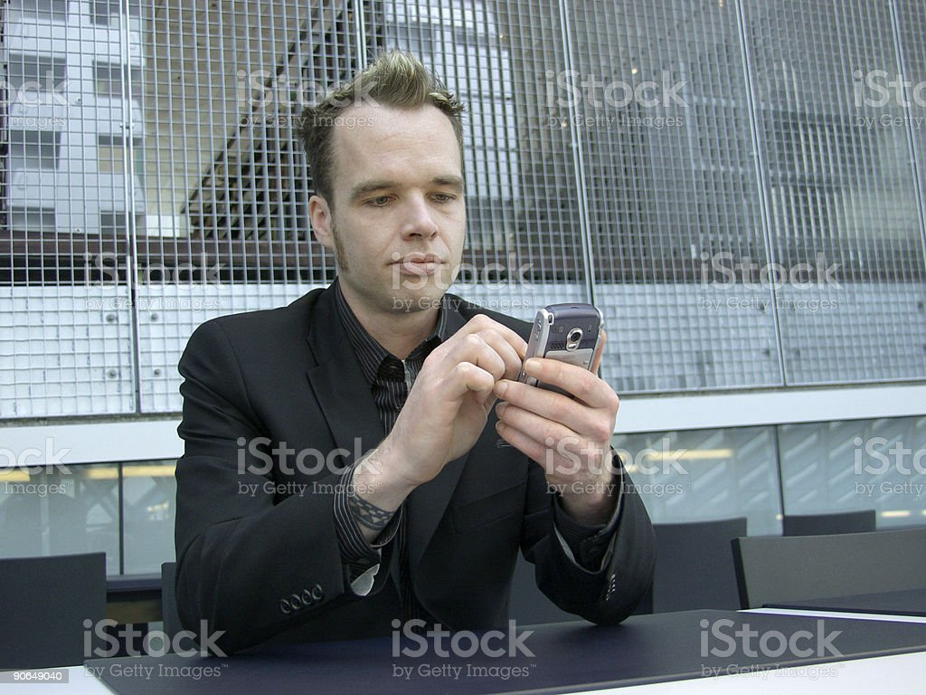 Checking In 2 stock photo