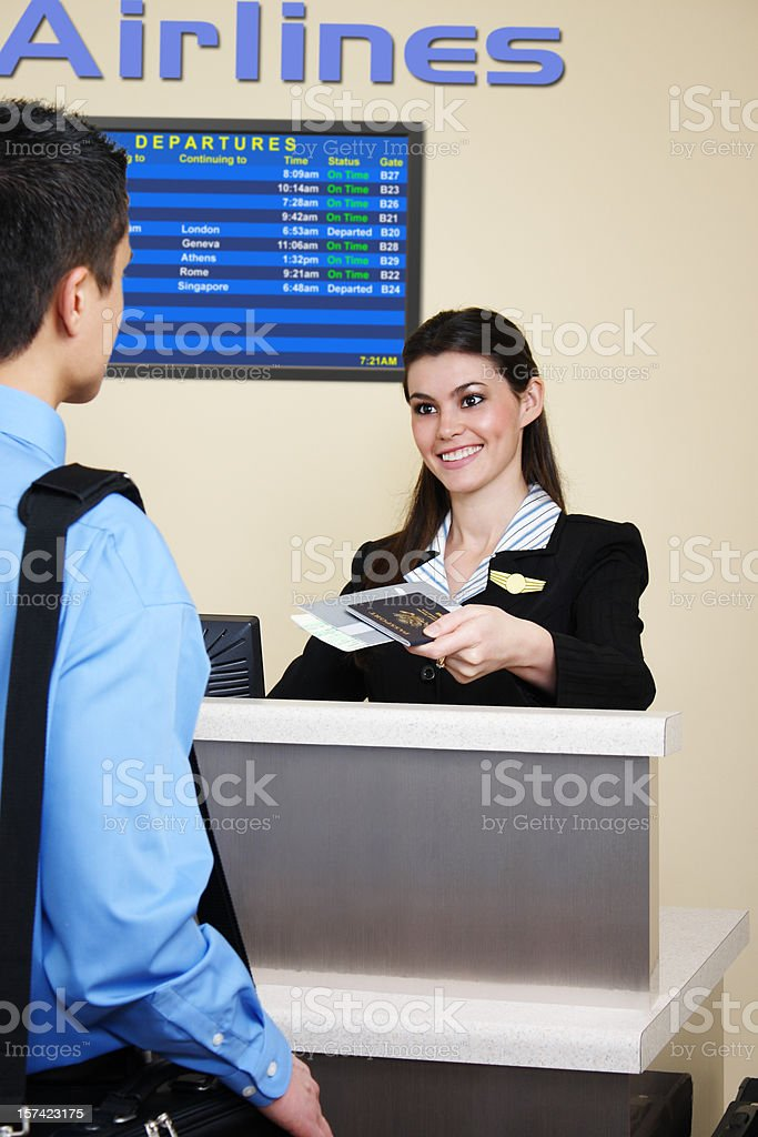 Checking In For International Flight royalty-free stock photo