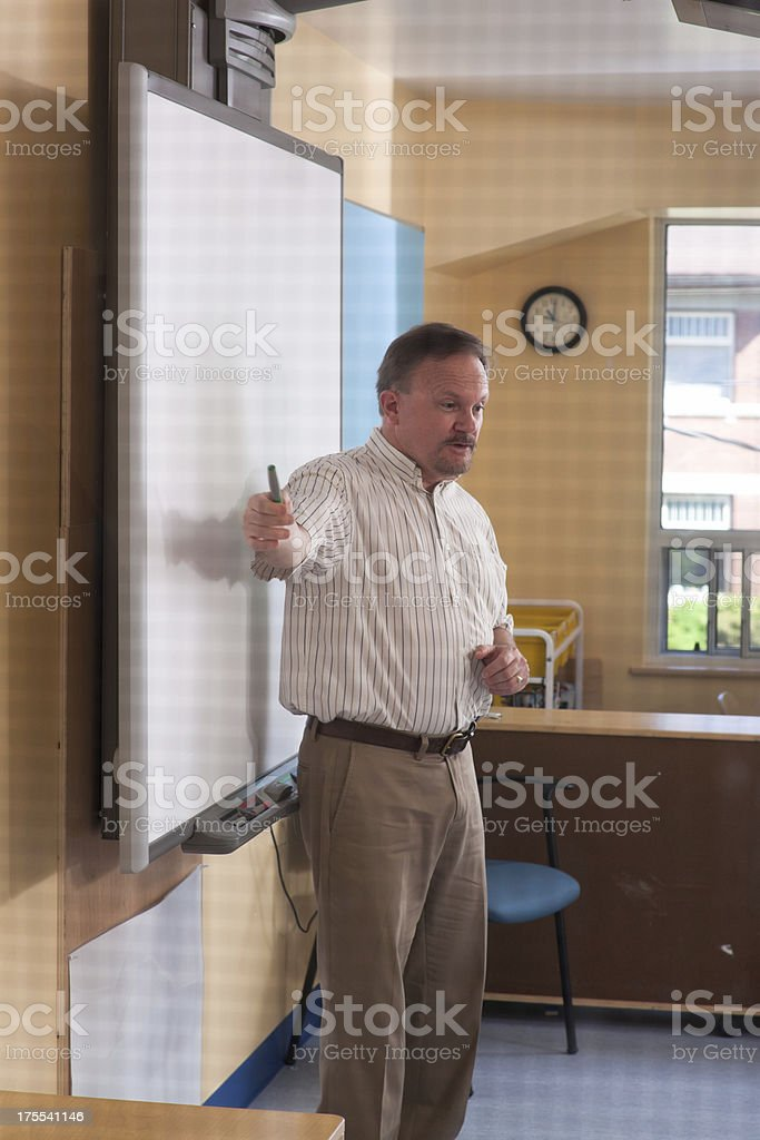 Checking In On Teacher royalty-free stock photo