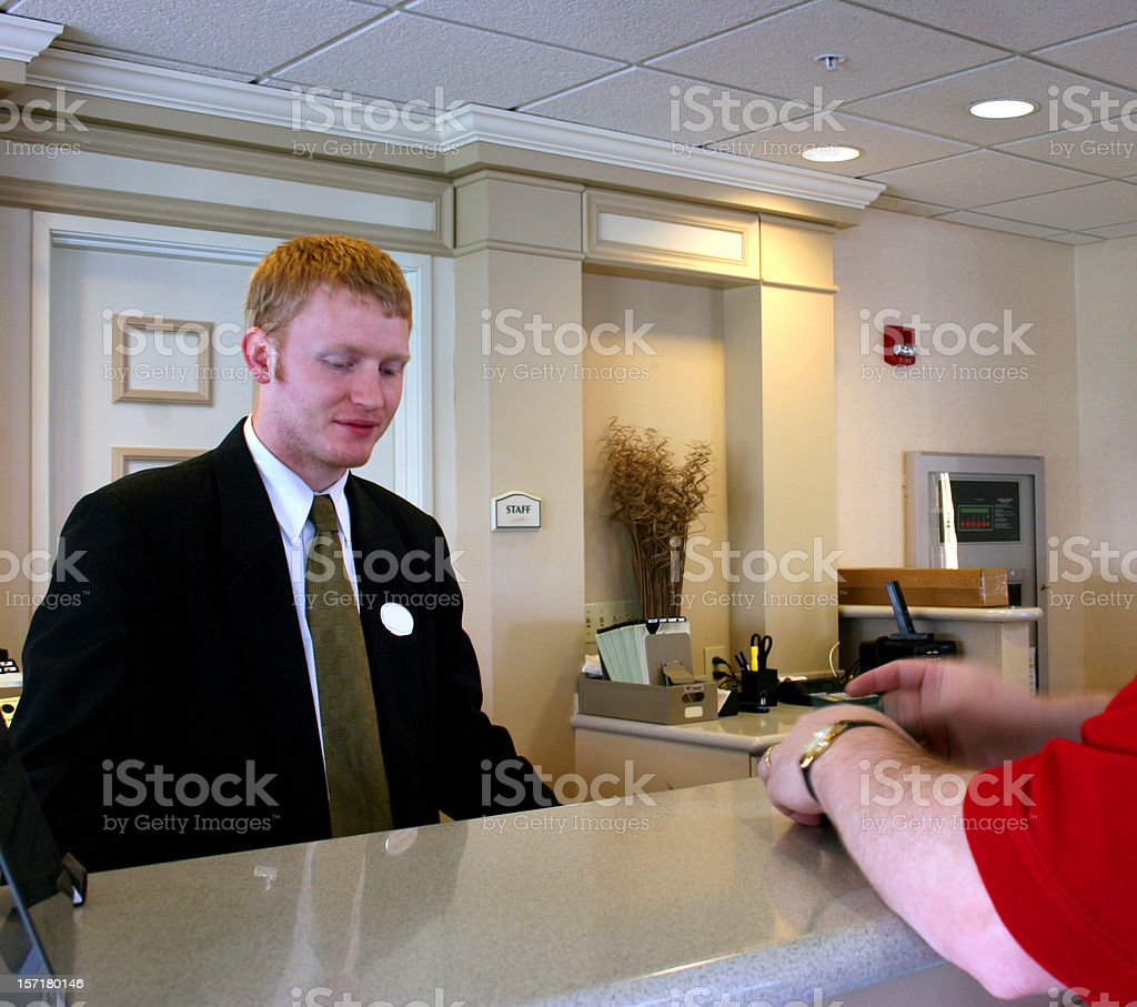 Checking In royalty-free stock photo