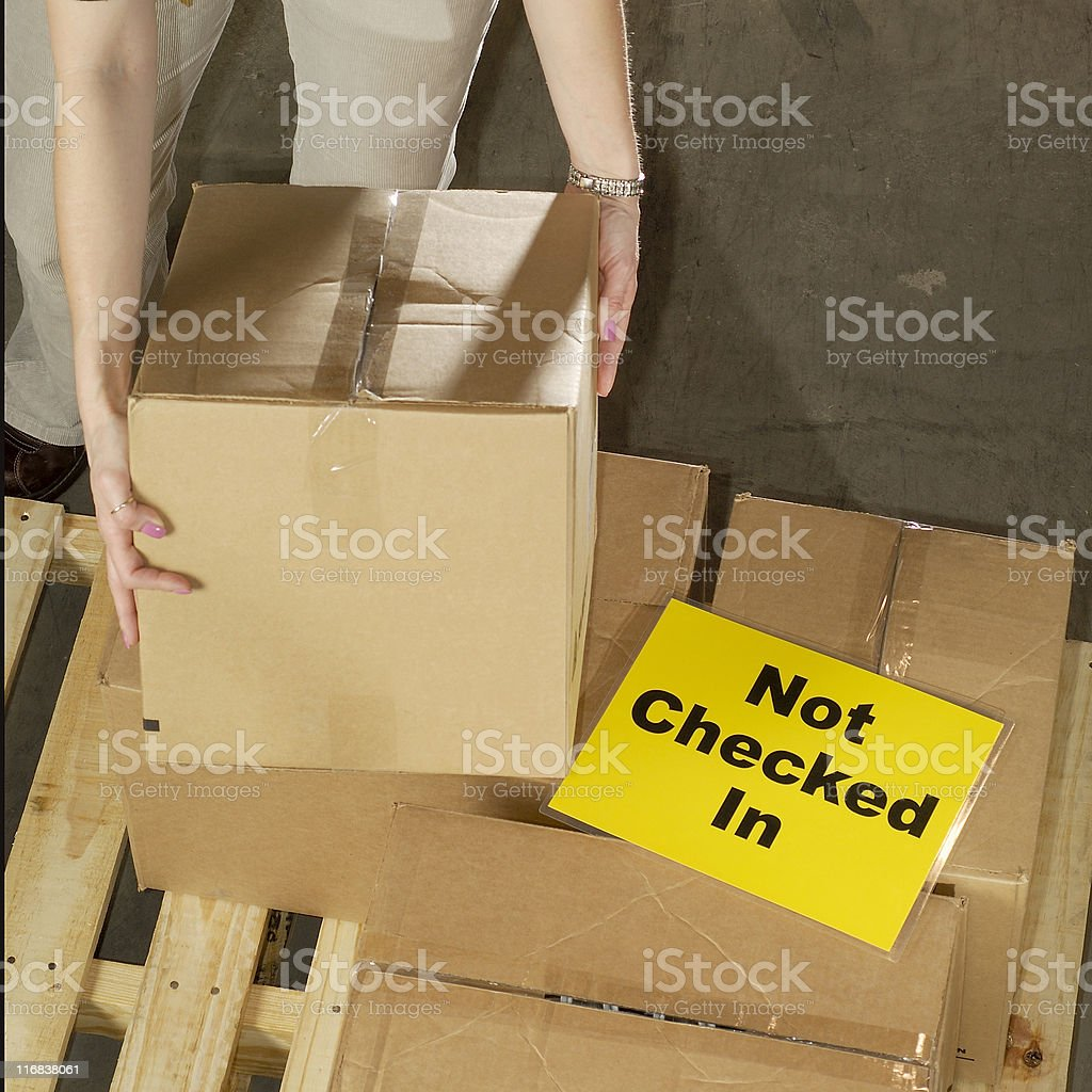 Checking in the stock royalty-free stock photo