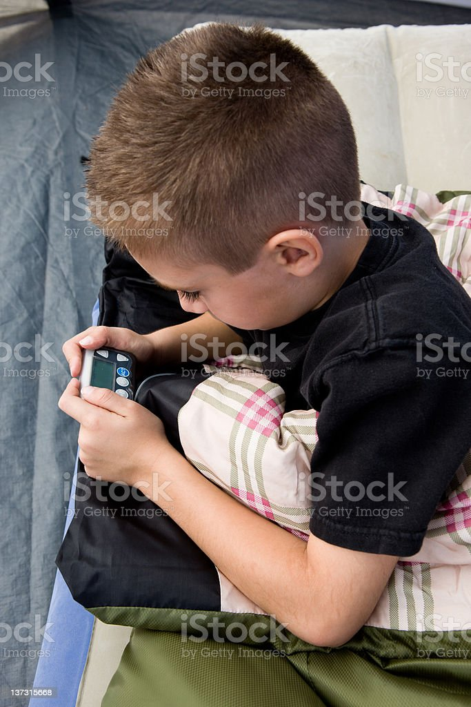 Checking Insuling Pump royalty-free stock photo