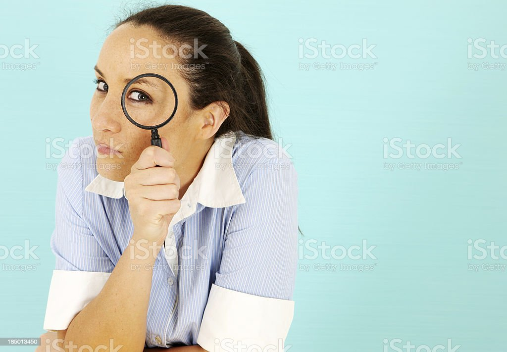 Checking it Out royalty-free stock photo