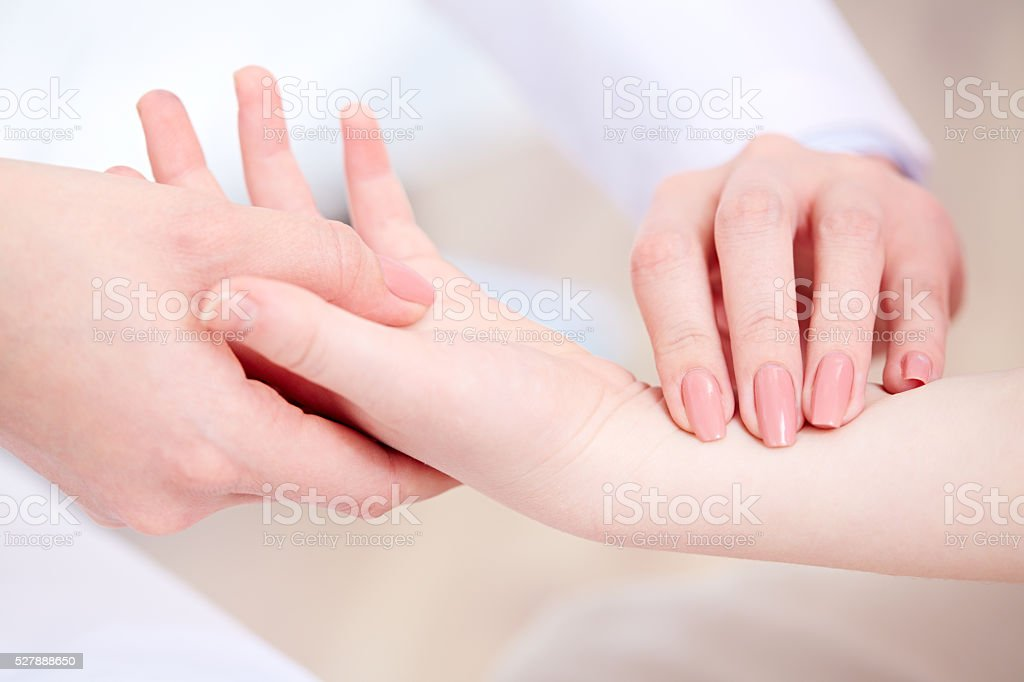 Checking joints stock photo