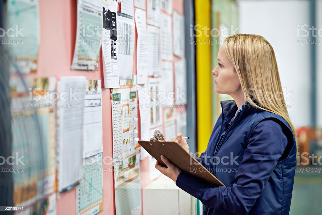 Checking logistics stock photo