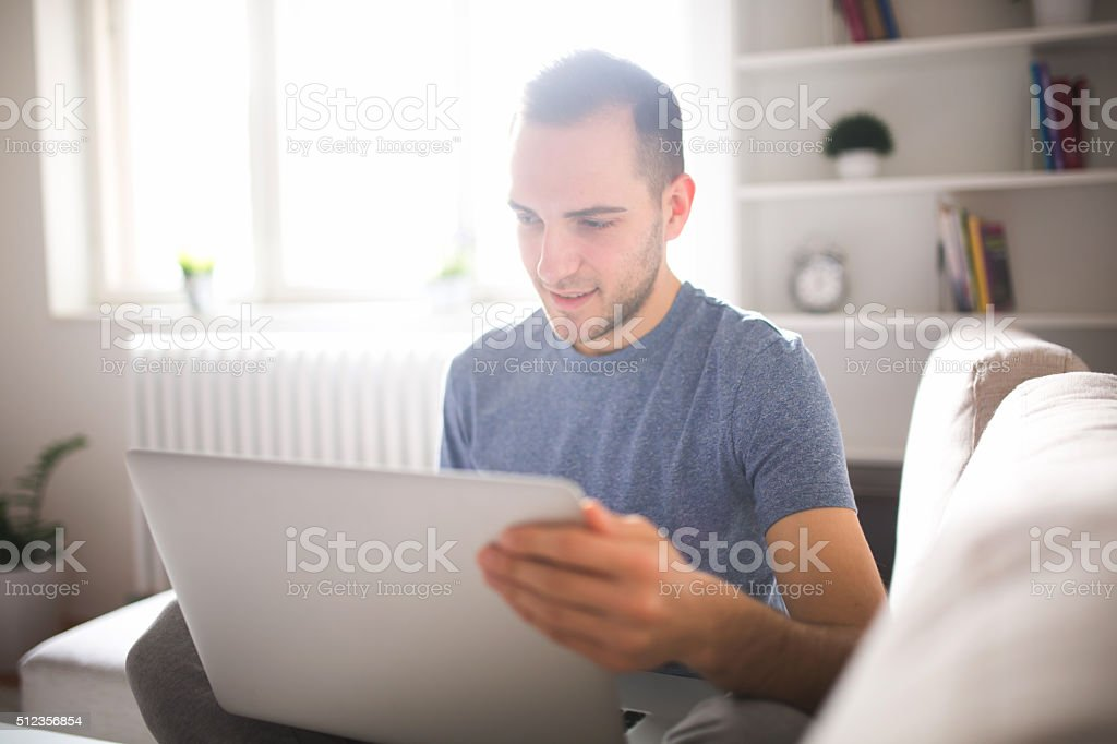 Checking mail stock photo