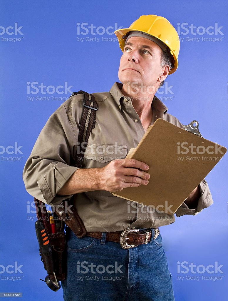 Checking Out the Job royalty-free stock photo