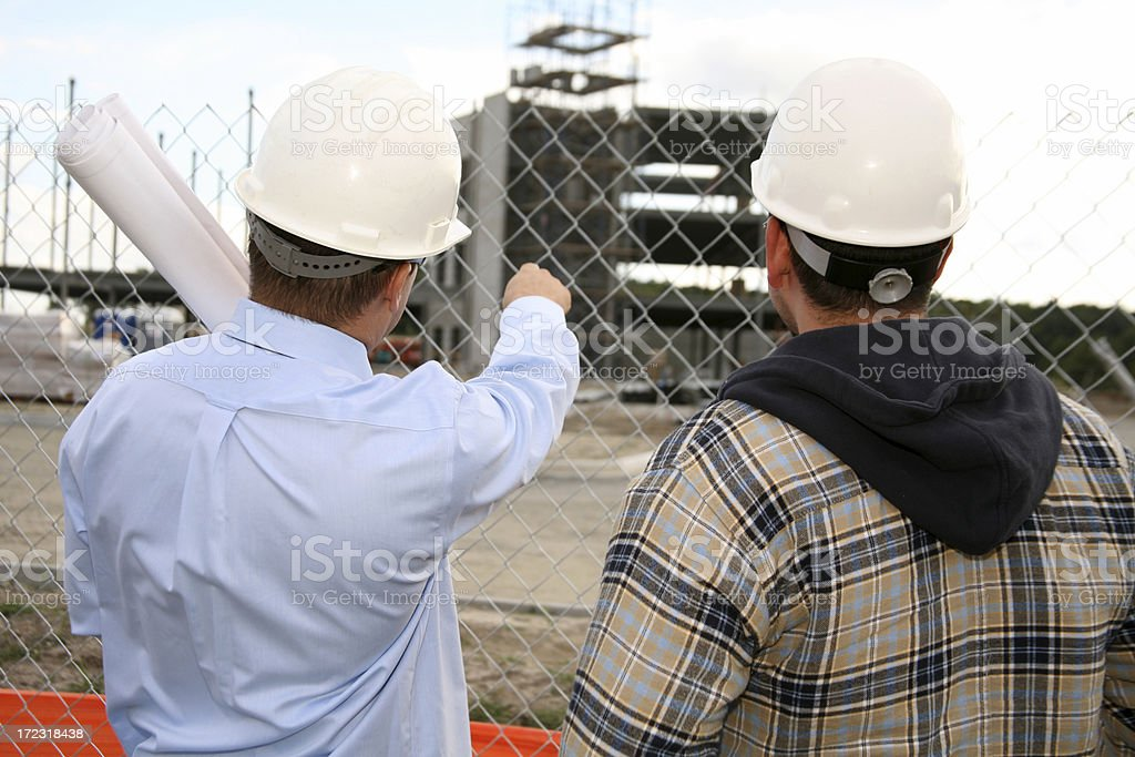 Checking out the Job Site royalty-free stock photo