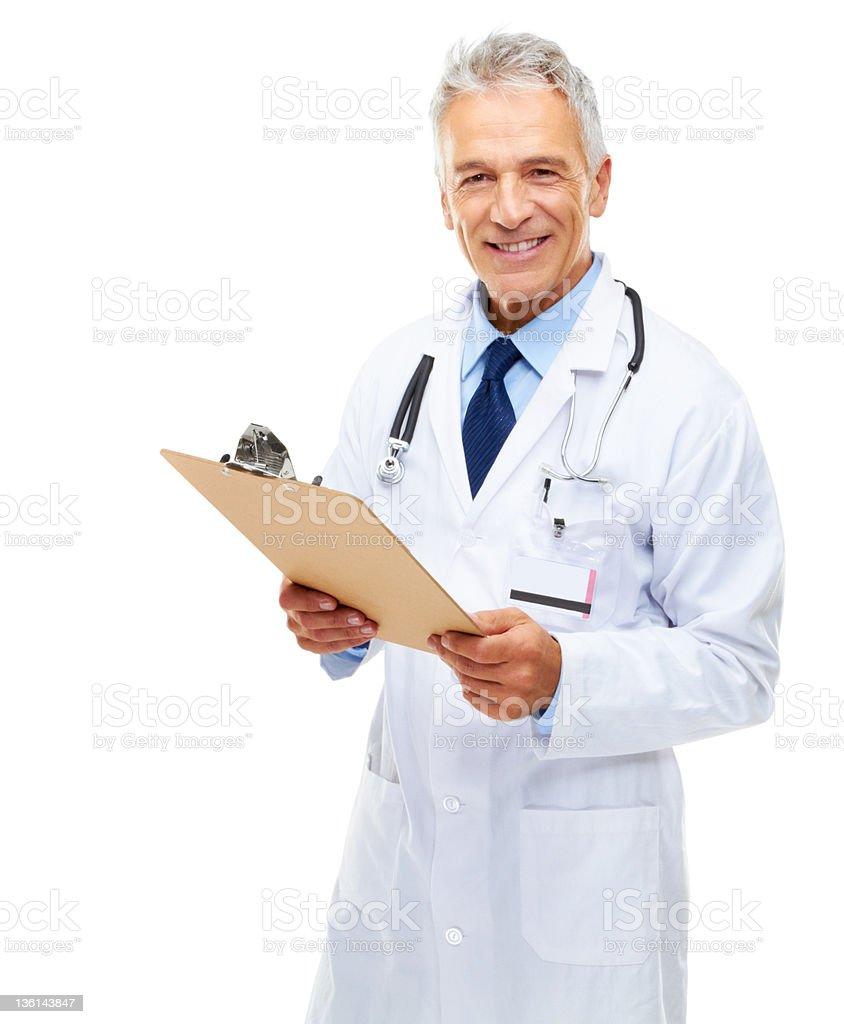 Checking over your medical chart royalty-free stock photo