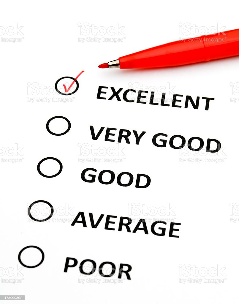 Checking performance list royalty-free stock photo