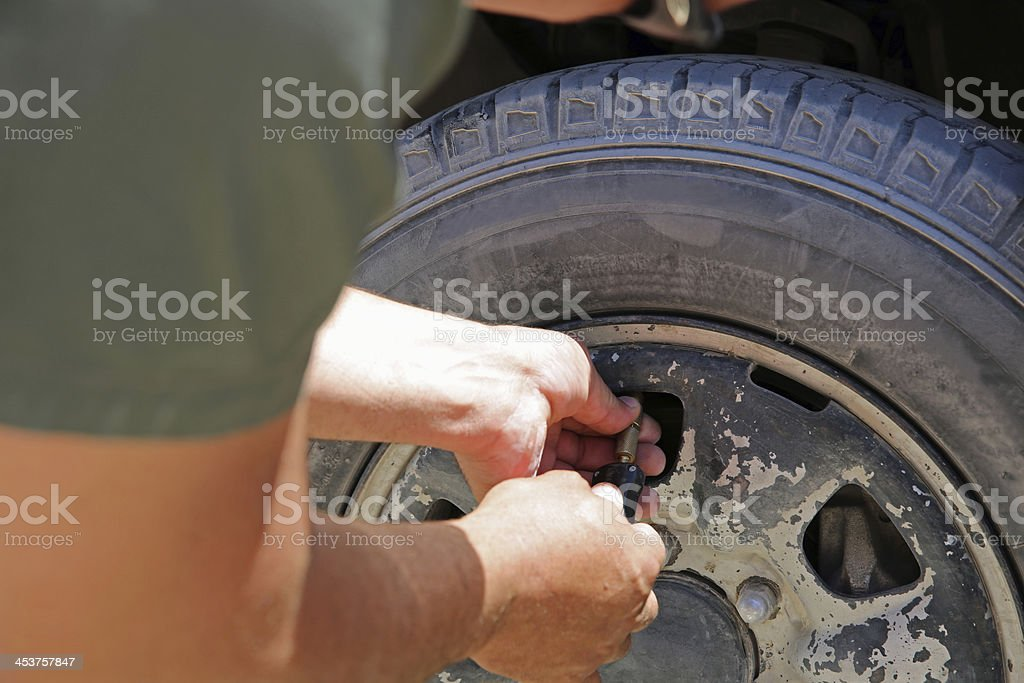 Checking Pressure royalty-free stock photo