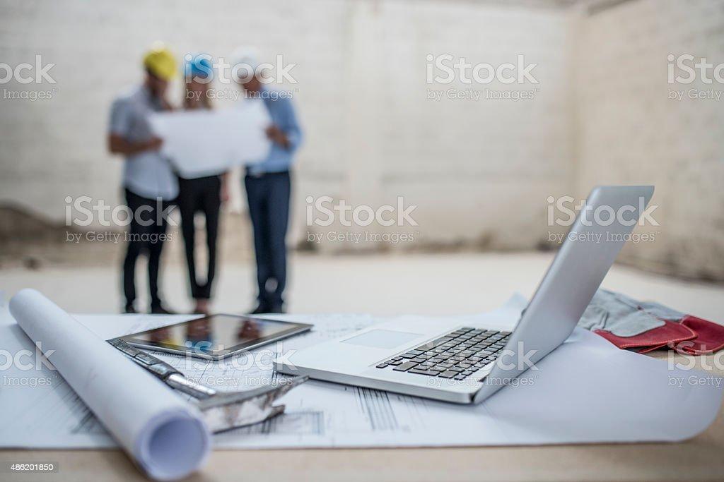 Checking Progress stock photo