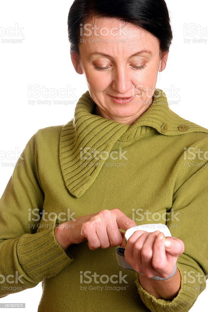 Checking pulse stock photo