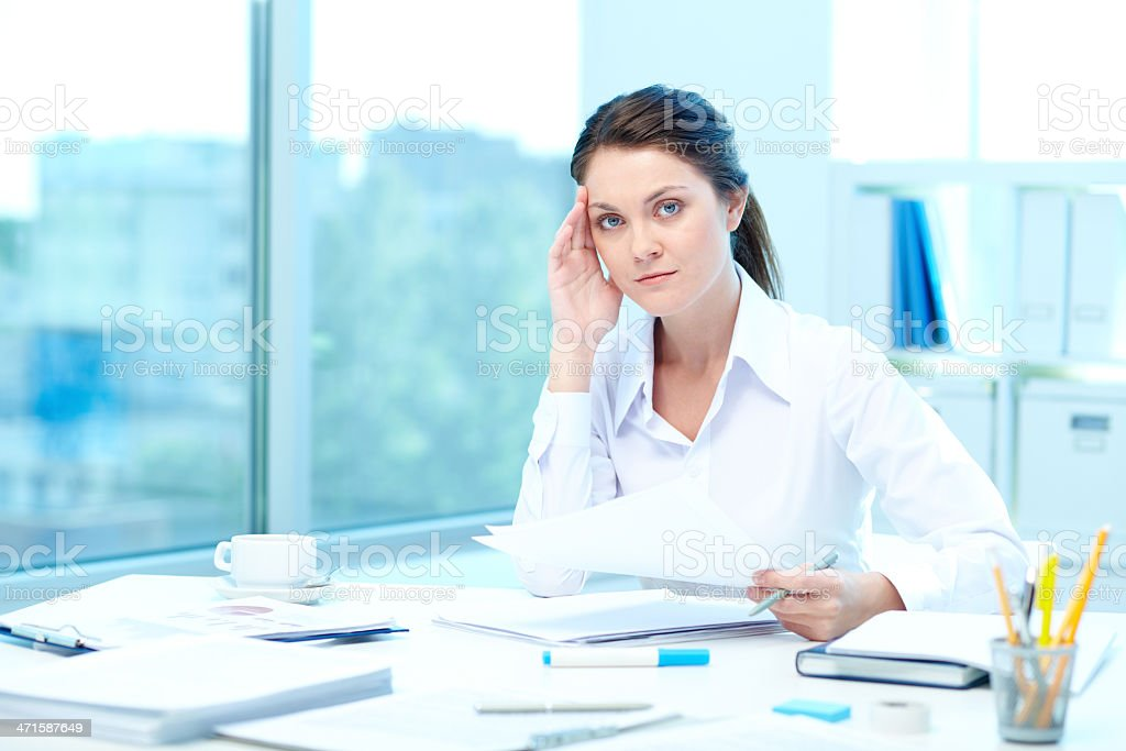 Checking results royalty-free stock photo