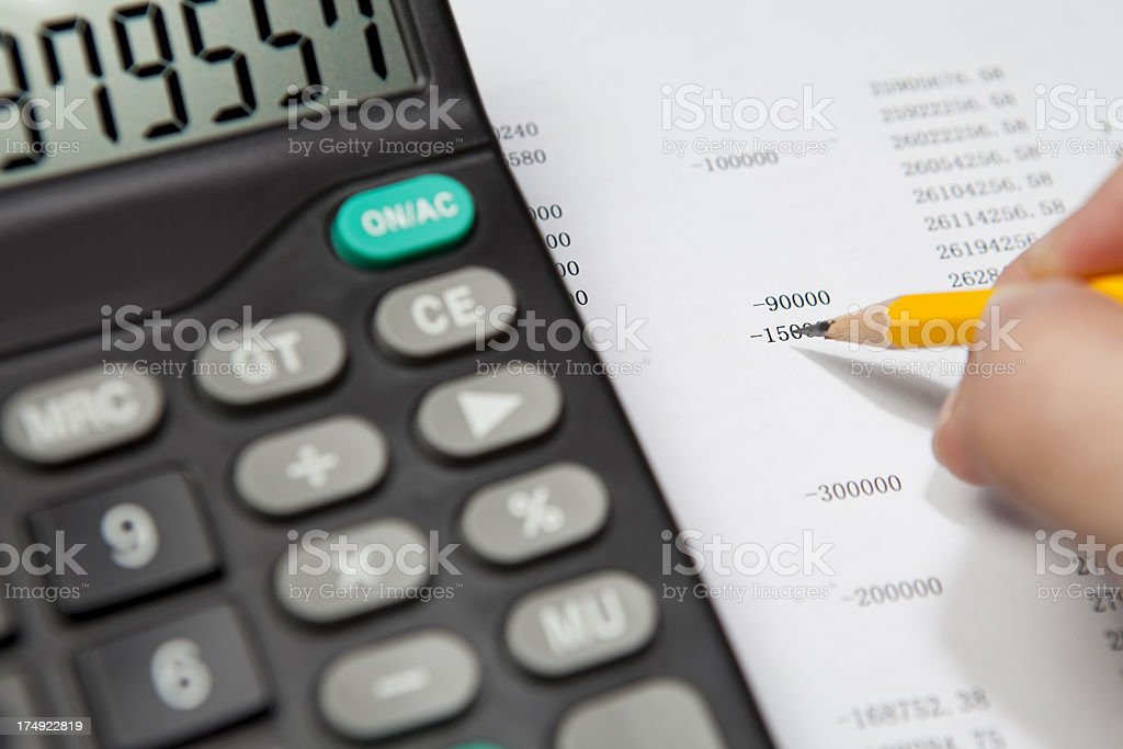 checking the balance royalty-free stock photo