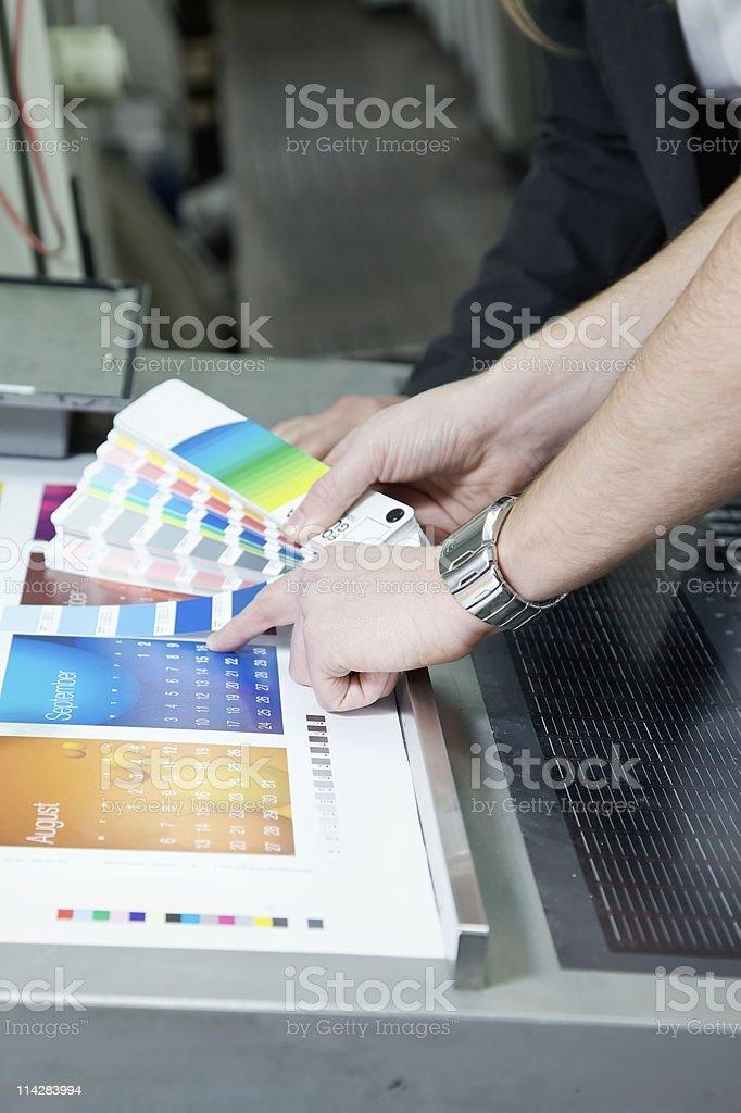 Checking the Colour... stock photo