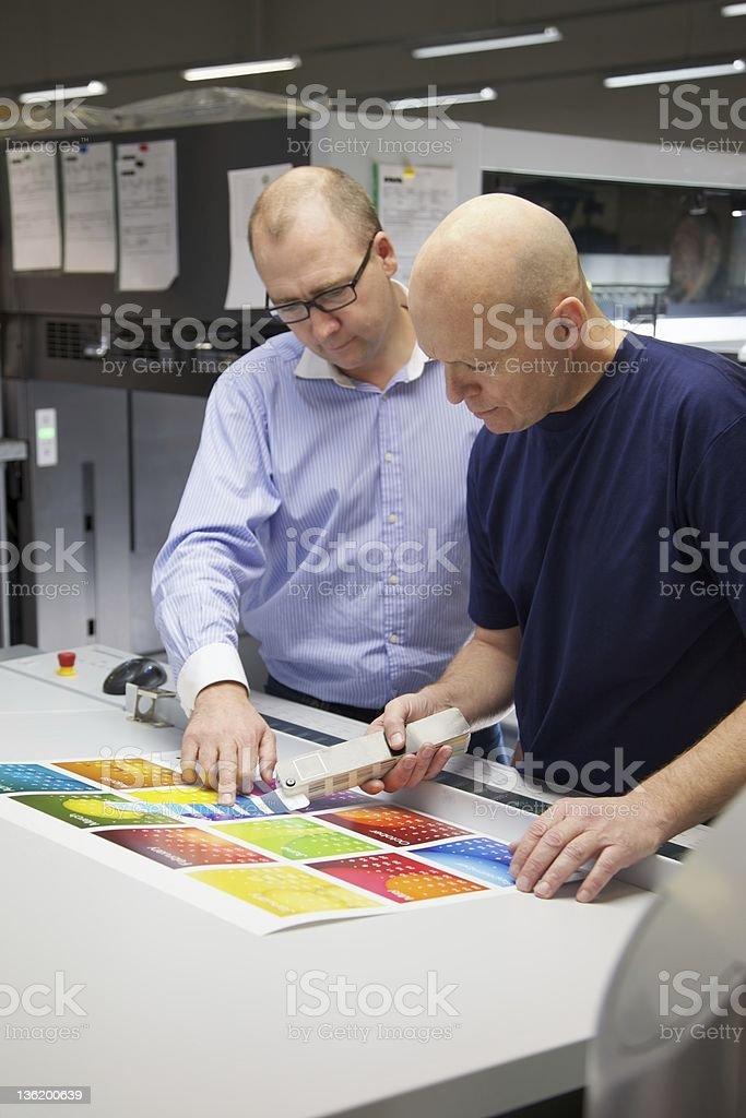 Checking the colour stock photo