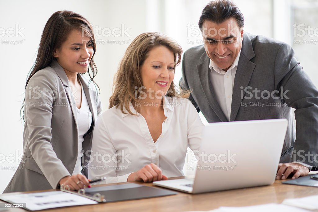 Checking the Company Email stock photo