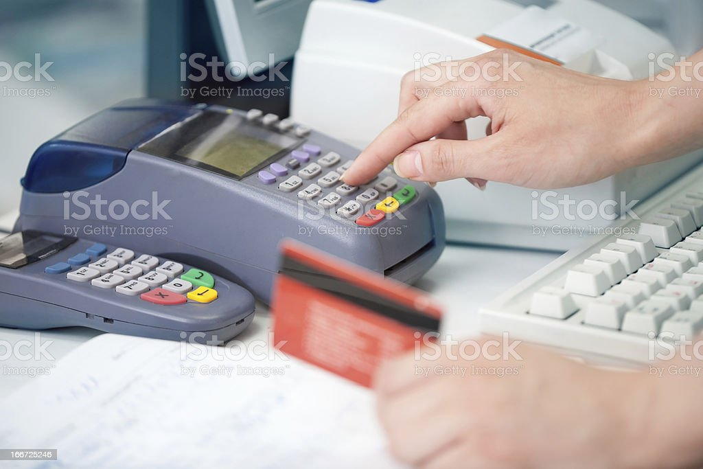 Checking the Credit Card . royalty-free stock photo