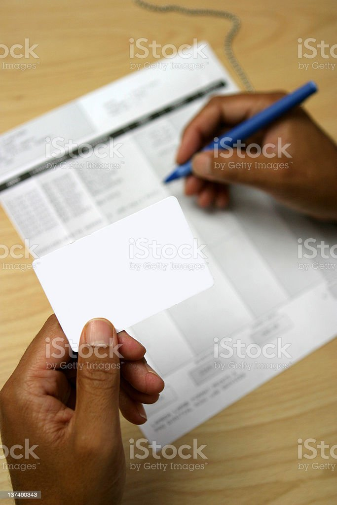 Checking the finances royalty-free stock photo