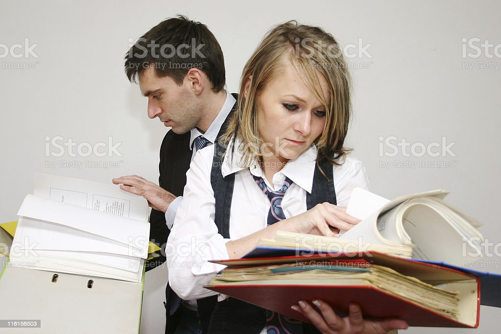 checking the financial statements royalty-free stock photo