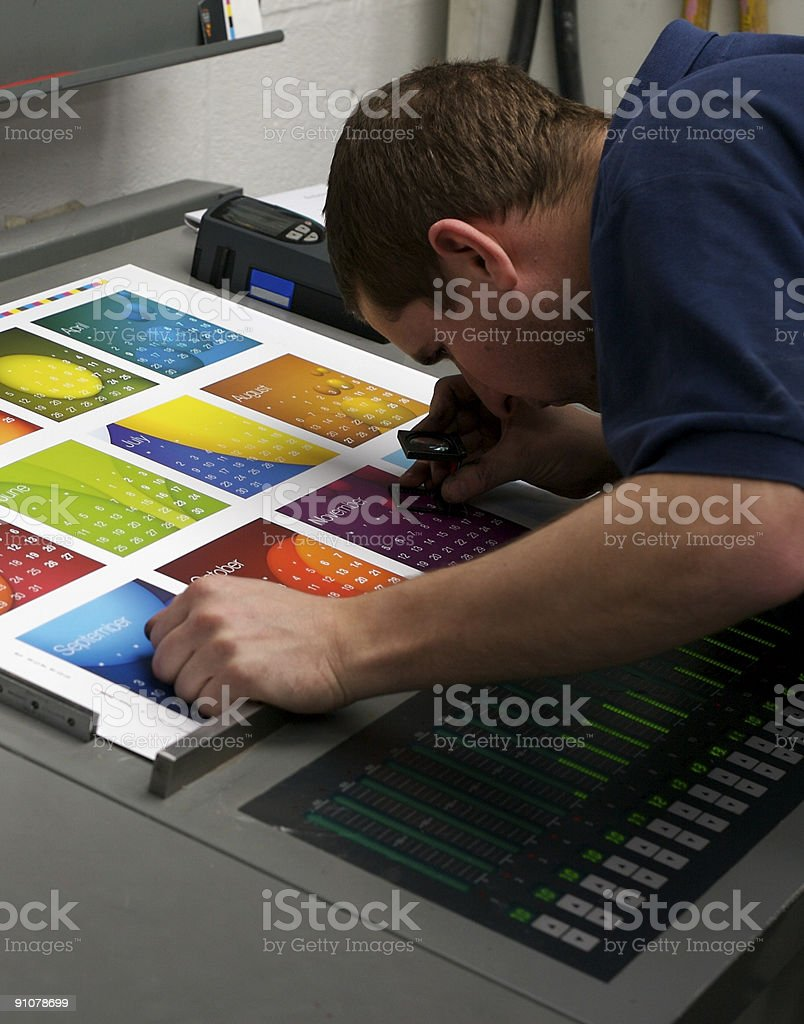 Checking the fit... stock photo