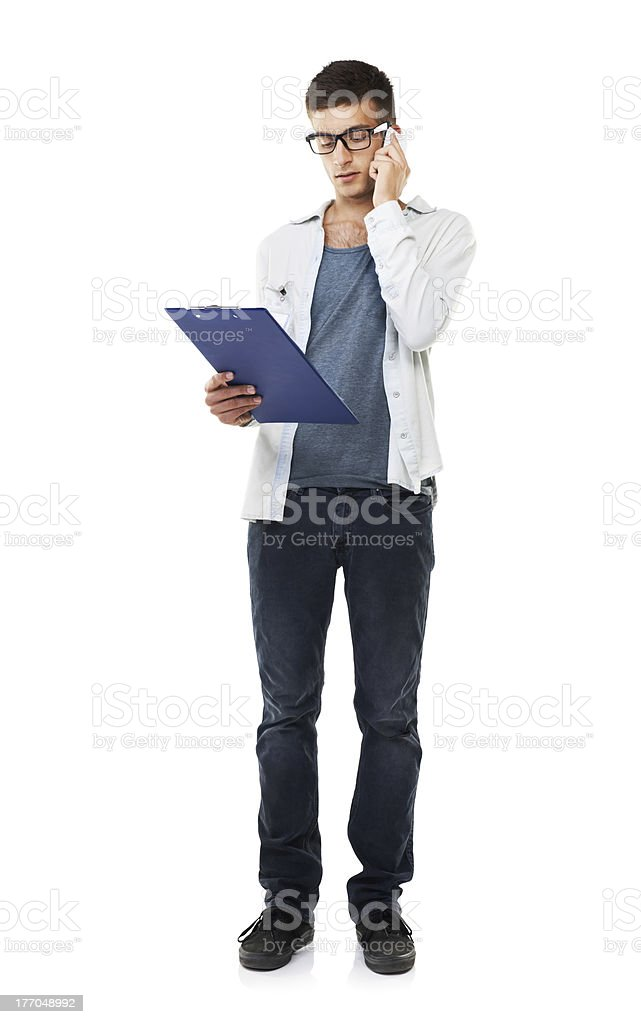 Checking the information royalty-free stock photo