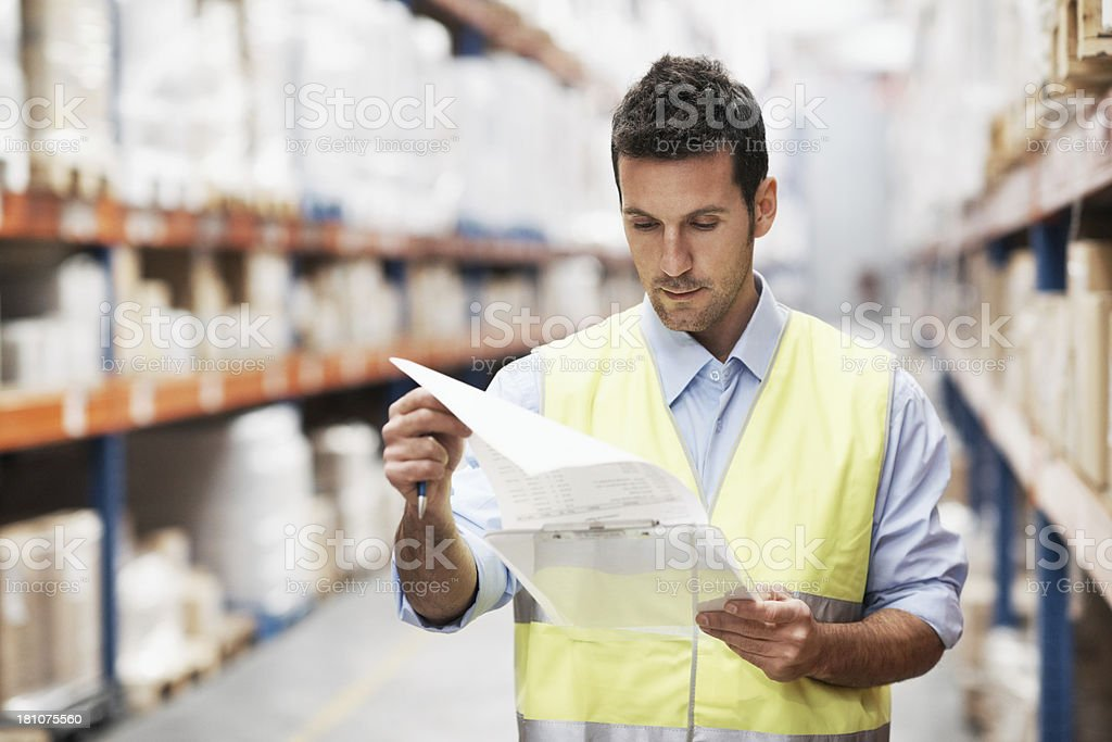 Checking the inventory royalty-free stock photo