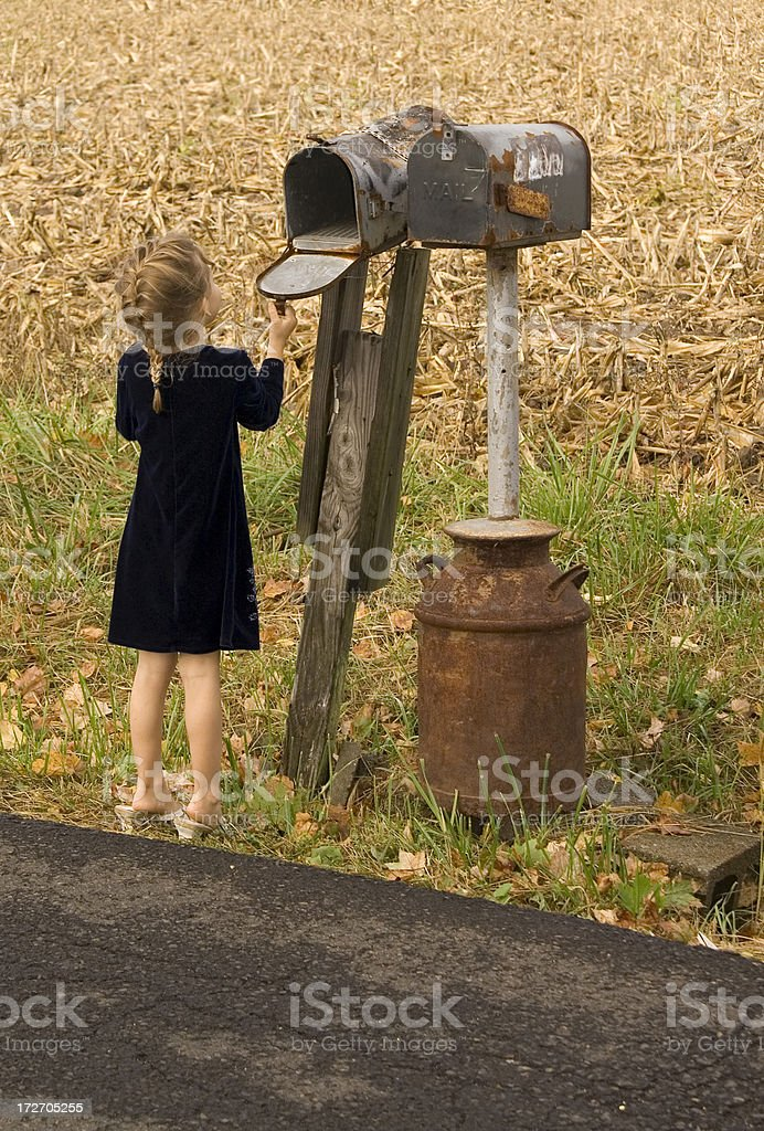 Checking the Mail royalty-free stock photo
