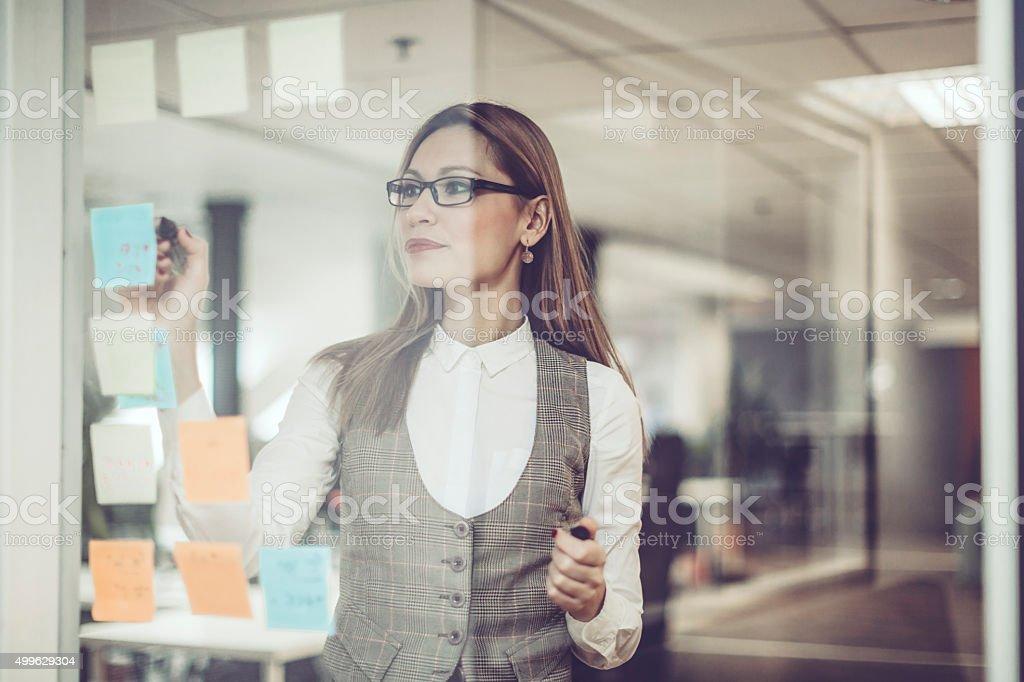 Checking the next task stock photo