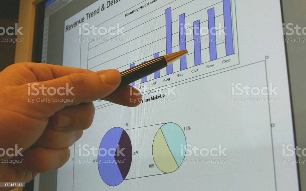 Checking The Numbers royalty-free stock photo