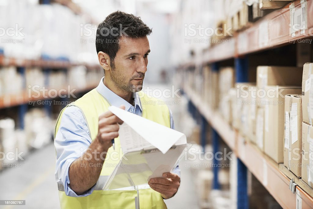 Checking the order number of each item royalty-free stock photo