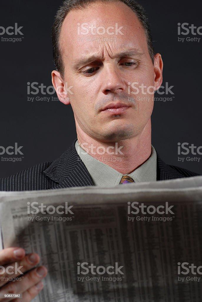 Checking the Stock Market royalty-free stock photo