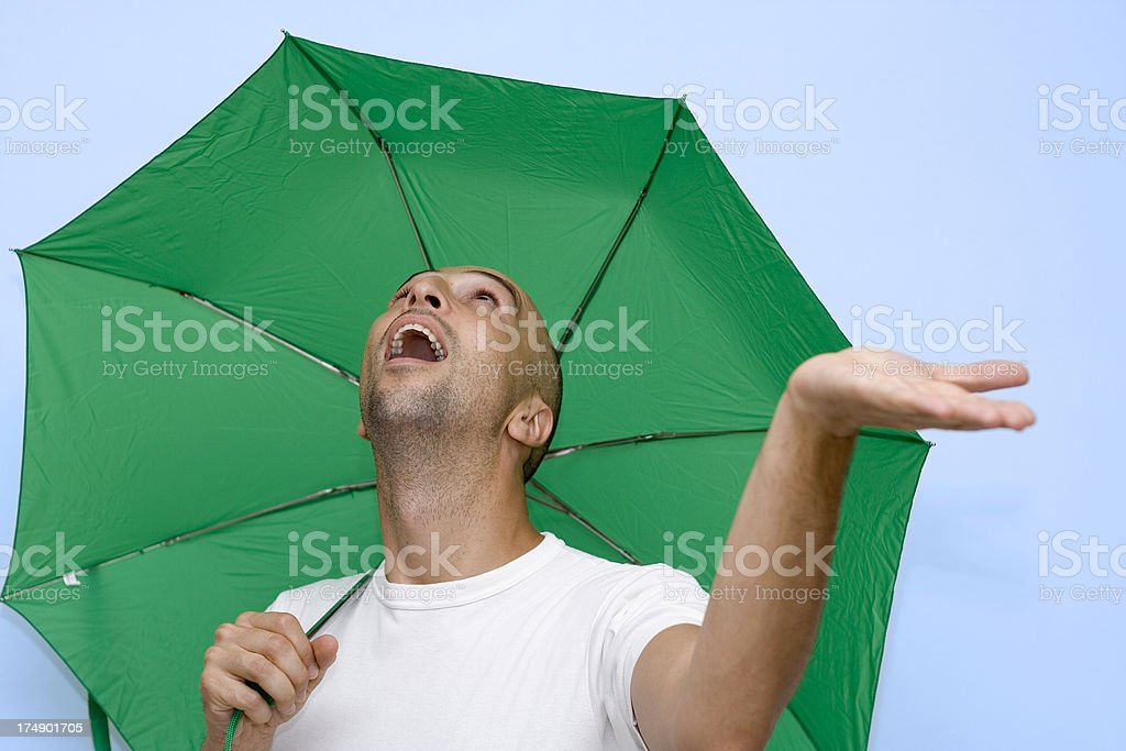 Checking the weather royalty-free stock photo