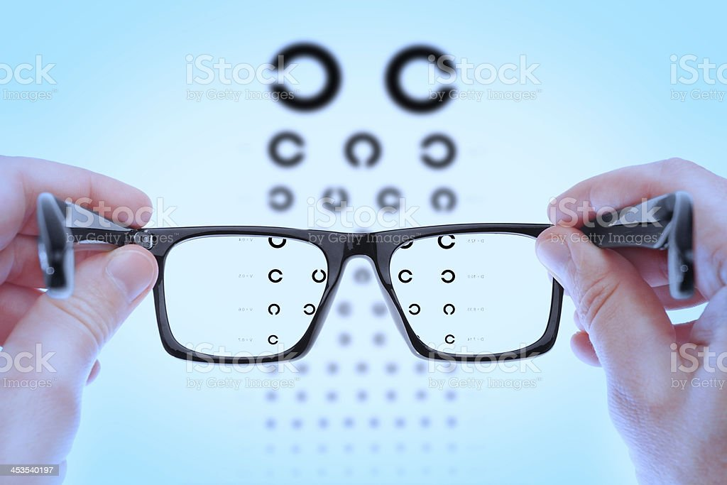 Checking vision on the table Golovin. stock photo