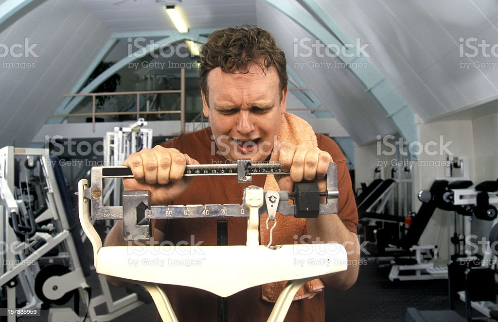 checking weight stock photo