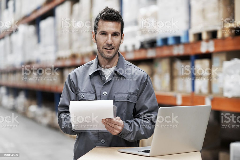 Checking where the stock needs to go royalty-free stock photo